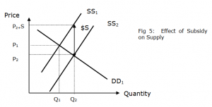 Effect of a Subsidy on Supply Curve | JC Economics Notes SG